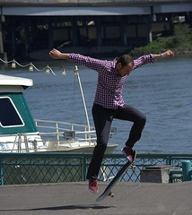 Skateboard Stunt (swong95765) Tags: stunt skateboard man trick balance leap act show spectacle