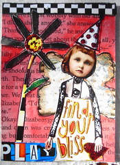 ATC Bliss 180513 Traded (ladychiara) Tags: atc collage whimsy cutandpaste