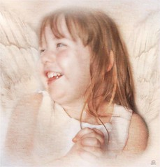 Our Little Angel (ReikiJan24 [Busy Busy - Catch up sooooon!]) Tags: painterly cute art angel gorgeous textures niece impressionism hss pictography creativeartphotography pse10 happyslidersunday sony35mmf18