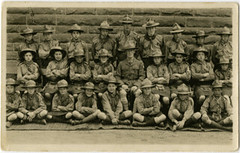 Menzies scout troop, 1920s (P&KC Archive) Tags: building tourism fashion sport architecture youth scotland 19thcentury perthshire scene recreation roads royalty aberfeldy spectacle perthandkinross