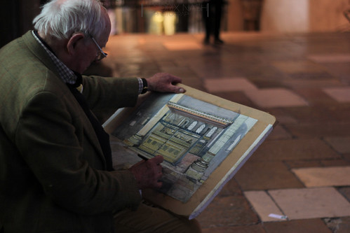 Artist in Canterbury Cathedral