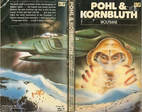 "Wolfbane by C.M. Kornbluth & Frederik Pohl. Penguin 1979. Cover artist Adrian Chesterman • <a style=""font-size:0.8em;"" href=""http://www.flickr.com/photos/75422475@N02/8851884035/"" target=""_blank"">View on Flickr</a>"