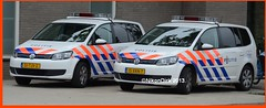 Dutch Police VW Tourans. (NikonDirk) Tags: holland netherlands dutch vw volkswagen utrecht cops traffic nederland police cop emergency politie touran verkeer midden hulpverlening nikondirk