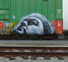 THE MAC (KNOWLEDGE IS KING_) Tags: railroad art yard train bench graffiti paint wheels tracks railway rails railfan freight benched