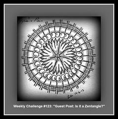 """Weekly Challenge #123: """"Guest Post: Is it a Zentangle?"""" (Poppie_60) Tags: pen drawings doodle tangle zentangle zendoodle ziazentangleinspiredart weeklydivachallenge"""