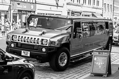 Party Hummer. (Callaghan69) Tags: uk urban blackandwhite bw stretch northumberland morpeth hummer nikond3100
