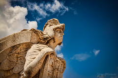 Freedom (Estevo Machado) Tags: blue sky art texture portugal statue rock architecture angel clouds liberty freedom design wings top lisbon free marquis pombal marqus