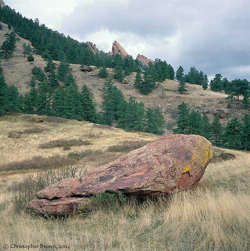 Photo - Boulder in the grasslands.