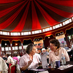 Spiegeltent diners at the 2004 Edinburgh International Book Festival