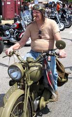 BikeTime-They Broke The Mold (musksnipe) Tags: horse man bike chopper michigan steel cigar motorcycle bsa muskegon biketime