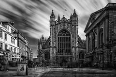 "Bath Abbey ""hotshots"" (AGB Photography) Tags: city blackandwhite bw abbey buildings nikon bath d7000 agbphotography bathabbeyhotshots"
