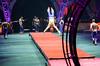 Prepare to Land.... (Tex Texin) Tags: shirtless male men oakland brothers circus dancer arena landing gymnast bailey acrobat athlete performer bros ringling barnum ringlingbros greatestshow builttoamaze stickingit