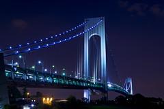 Verrazano Bridge (Machines With Souls) Tags: nyc newyorkcity bridge blue tower night nikon bridges clear statenisland verrazanobridge fortwadsworth nightfoto top20bridges d5200 machineswithsouls
