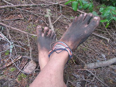 Dirty feet (bfe2012) Tags: feet nature forest freedom toes dirty dirt barefoot barefeet tough soles anklets barefooted barefooting barefoothiking barefooter