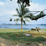 01 Feb 1968, Hue, South Vietnam - Helicopters Arriving to Evacuate Wounded - Image by © Bettmann/CORBIS thumbnail