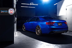 Audi RS5 with HRE P44SC in Satin Bronze by Gabriel Milori (7) (HRE Wheels) Tags: blue bronze mark audi hre rs5 chapparone