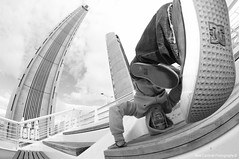 Me myself and I (Matt Cardinal) Tags: bridge urban blackandwhite fish selfportrait eye me dc nikon autoportrait bordeaux freeze hiphop breakdance bboy bboying dcshoes mattcardinalphotography