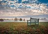 Tranquil Solitude (Sky Noir) Tags: morning light sky mist fall field misty fog sunrise virginia still solitude day richmond va tranquil skynoir