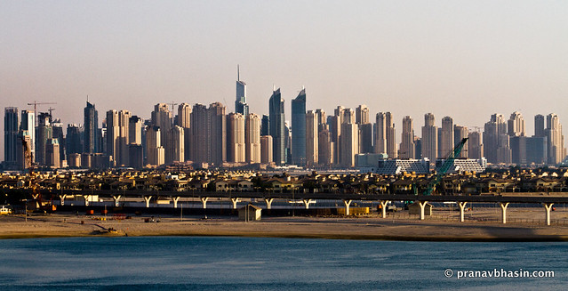 Dubai Skyline Panorama, From Atlantis, Dubai