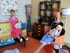 """(24) """"We are in baby heaven"""" (Foxy Belle) Tags: thanksgiving baby scale vintage doll apartment barbie 16 diorama"""