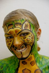 colour (wespfoto) Tags: color girl face facepainting head headshot giraffe