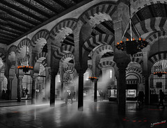 eternal flames  llamas eternas (jesuscm) Tags: bw espaa spain nikon cathedral catedral mosque mezquita crdoba moorisharchitecture powerofart creativemindsphotography arquitecturahispanomusulmana jesuscm bestcapturesaoi magicunicornmasterpiece elitegalleryaoi