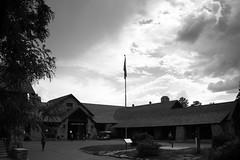 Grand Canyon Lodge (RPahre) Tags: light arizona sky blackandwhite cloud monochrome grandcanyon northrim grandcanyonlodge