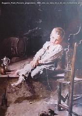 Eugenio Prati Piccolo prigioniero 1880 olio su tela 32 x 22 cm Collezione privata