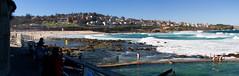 Bronte Beach (Eloise Claire) Tags: ocean blue sea panorama beach water pool canon pano sydney australia panoramic nsw newsouthwales bronte tiltshift oceanpool brontebeach canon24mmltse