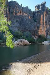 Windjana Gorge (julie burgher) Tags: geology kimberley westernaustralia freshwatercrocodile windjanagorge crocodylusjohnsoni devonianreef lennardriver