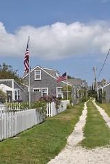 Sconset. (alyssam27) Tags: summer island capecod newengland flags nantucket nautical ack nantucketisland nauticalnewengland ackcity