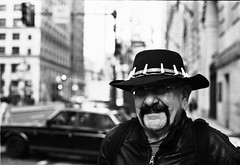 killa (ray_ermel) Tags: street new old city portrait people guy philadelphia hat car 35mm cool nice awesome rad earring dude moustache jersey killa philly mustache broad