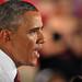 President Barack Obama addresses a partisan Wolfpack crowd.