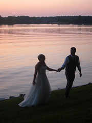 (Caitlin H. Faw) Tags: wedding light sunset portrait usa color water june river bride md dress marriage maryland husband miles kirkland manor easton 2013 caitlinfaw caitlinfawphotography