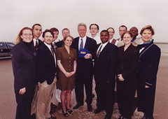 UMKC Squad with Clinton
