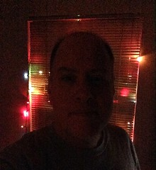 Day 711 - Day 345: Me and Christmas lights (knoopie) Tags: christmas holiday selfportrait me lights december doug christmaslights year2 picturemail iphone knoop day345 365days 2013 knoopie day711 365more 365daysyear2