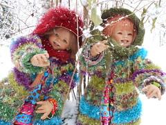 Winter 2012 ... Tivi und Sanrike ... EXPLORE 19. Februar 2014 ... (Kindergartenkinder) Tags: schnee winter dolls annette 2012 tivi himstedt kindergartenkinder sanrike