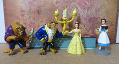 Disney Figurine Collection: Beauty and the Beast (scarlett1854) Tags: disney lumiere belle chip beast figurine 1990s beautyandthebeast disneystore applause cogsworth mrspotts disneytoys disneyfigurine pvcfigurines