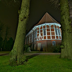 Kirche St. Gertrud Pattensen by night HDR #02 thumbnail