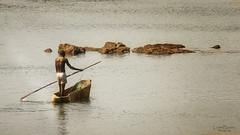 Fishing on the Tongabezi (lowebowes) Tags: africa travel fishing canoe homemadeboat tongabezi vision:outdoor=0939