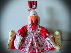 Presente (Sonhos de Tecido) Tags: galinha artesanato decorao bichosdetecido
