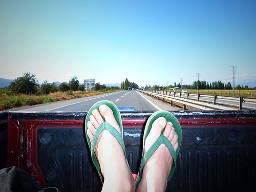 Flip flap on the road :p Santiago, Chili