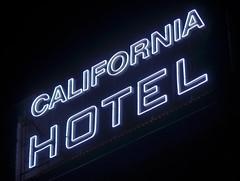 california hotel (pbo31) Tags: california old black color sign night hotel oakland spring nikon neon hotelcalifornia bayarea april eastbay 2014 d90 californiahotel