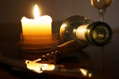 Evening s'gone (mar-pet) Tags: abend wein korken kerze wine evening bottle candlelight flasche