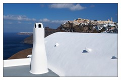 A Greek Impression (kurtwolf303) Tags: santorini greece griechenland hellas thira fira white blue olympusblue landscape landschaft schornstein olympusem5 omd microfourthirds micro43 systemcamera mirrorlesscamera village dorf buildings gebäude häuser europe beautiful interesting sky clouds himmel wolken ocean meer sea mediterraneansea unlimitedphotos travelphotography reisefotografie 250v10f mittelmeer 500v20f digitalphotography kurtwolf303 topf25 topf50 topf75 750views topf100 1000v40f topf150 1500v60f
