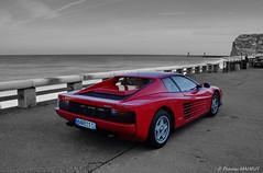 Ferrari Testarossa (Bould'Oche) Tags: ferrari testarossa voiture car wagen automobile exception noir et blanc partiel black colour thomas maheut photographies amateur france français