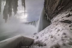 Journey Behind The Falls (Mike Ver Sprill - Milky Way Mike) Tags: journeybehindthefalls canada niagarafalls winter ice snow cold mist spray rocks explore tunnel clouds unique perspective wideangle mikeversprill michaelversprill longexposure newyork ontario border waterfalls waterfall landscape nature fury power powerful smooth