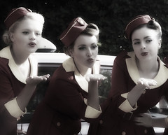 Glamcabs Girls (Bernie Condon) Tags: women girls glamcabs vintage preserved carryon goodwood revival event uk glamour