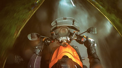 .🎶  Rain drops keep falling on my head....🎶 (Motographer) Tags: rain ridinggear ridinggloves motographer motograffer motography motorcyclegetaways motorcycle touring mra variotouring windscreen rearviewmirror gopro screenshot valparai tamilnadu westernghats yamaha mt01