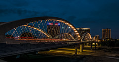 A night view of Linwood, Fort Worth. Texas. © ® (The city guy ☺) Tags: texas city cityscapes nightphotography walking walkingaround architecture travelling colors cityscape structure fortworth bridge